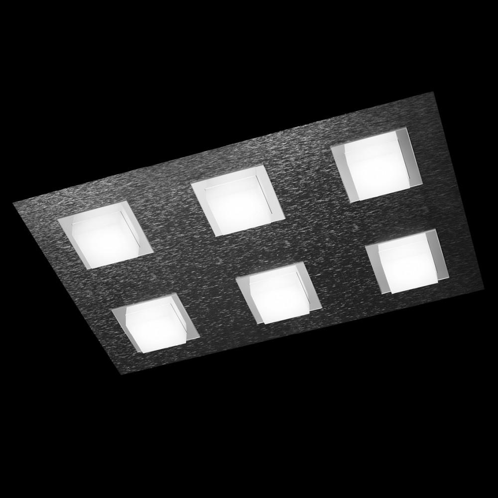 Plafonnier LED Basic 6x520lm Anthracite brossé