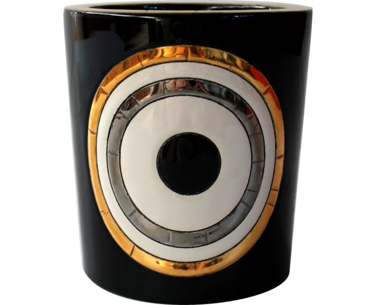 Pot à bougie GEO - Noir - Emaux de Longwy