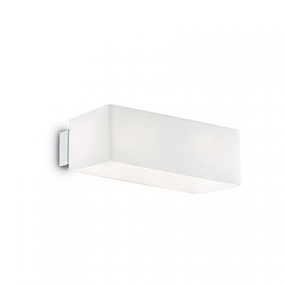 Applique en verre Box blanche