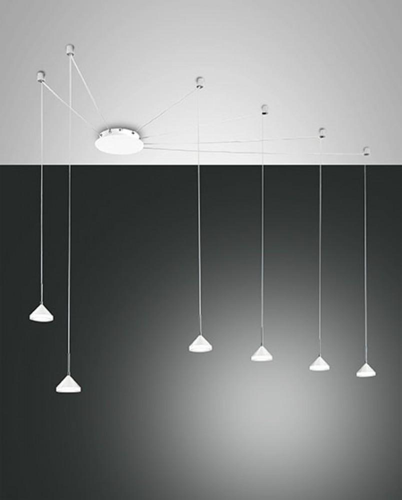 Suspension LED décentrée Isabella 48W Blanche