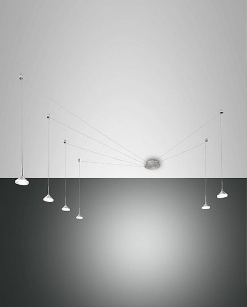 Suspension LED décentrée Isabella 48W Grise