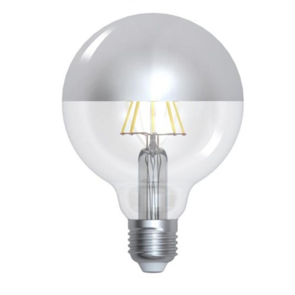 Ampoule LED filament 8W E27 (=69W) calotte argentée