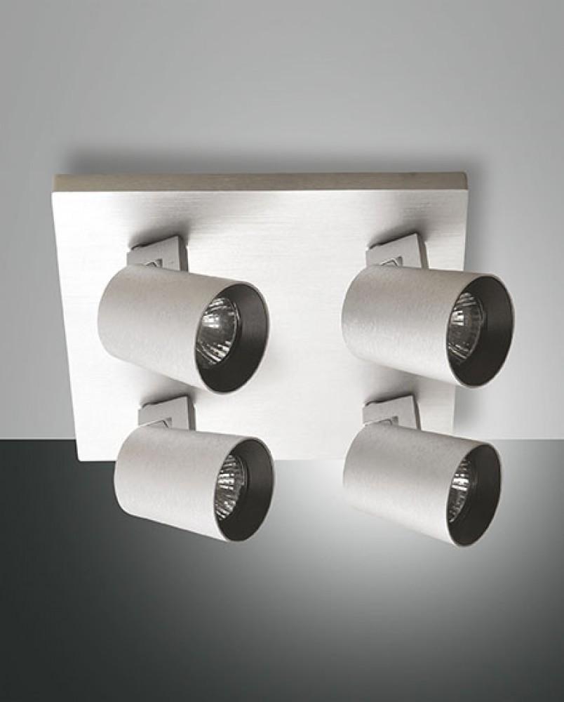 Plafonnier spots Modo 4xGU10 aluminium