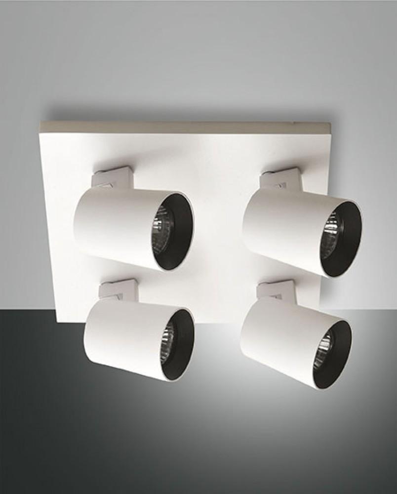 Plafonnier spots Modo 4xGU10 blanc