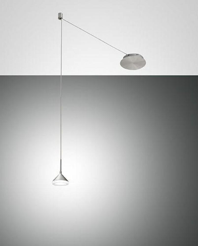 Suspension LED décentrée Isabella Grise