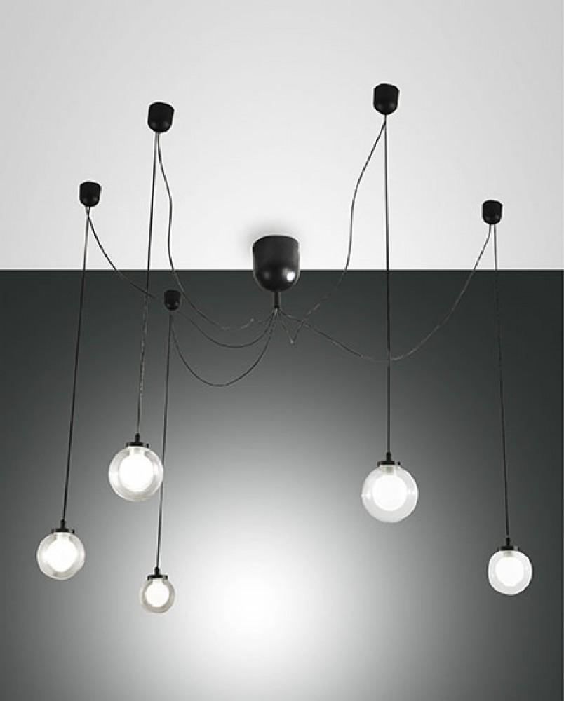 Suspension LED décentrée Blog noire