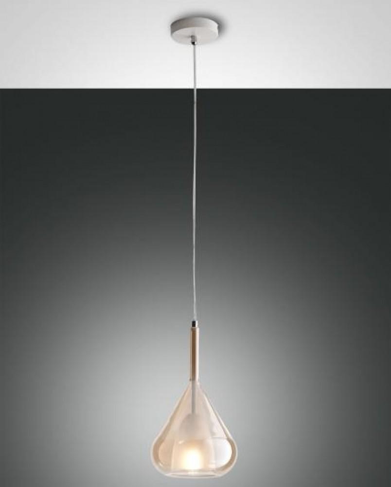 Suspension verre Lila ambre