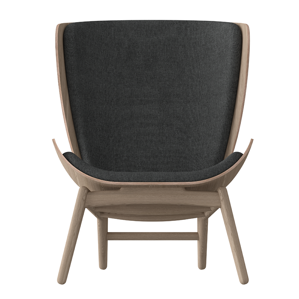 Fauteuil chêne the reader gris anthracite