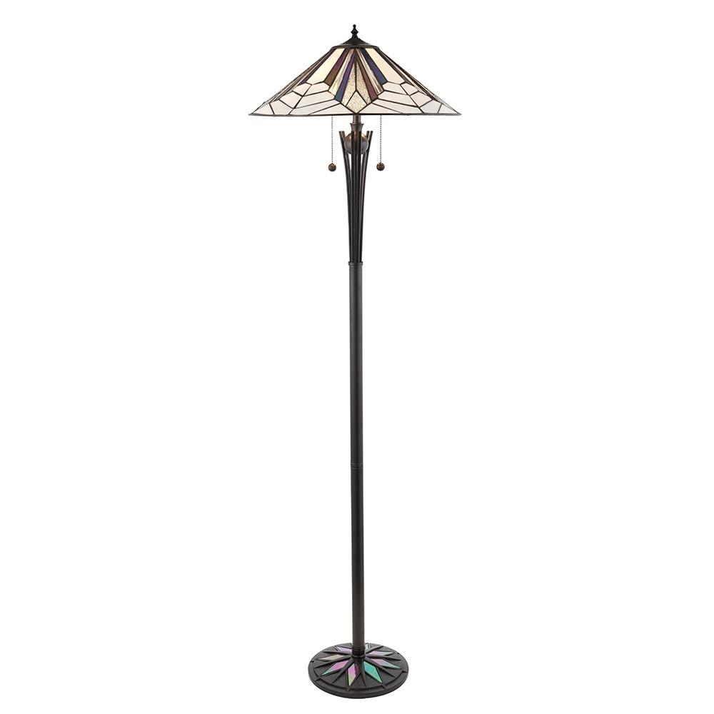 Lampadaire Tiffany Astoria 2x60W