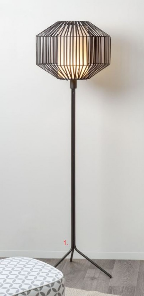 Lampadaire Cruz - Noir - H.166