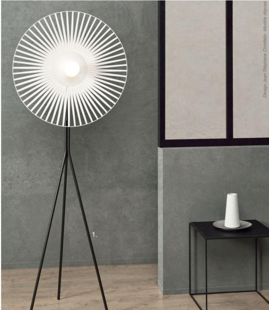 Lampadaire César - Blanc -  H.195 cm