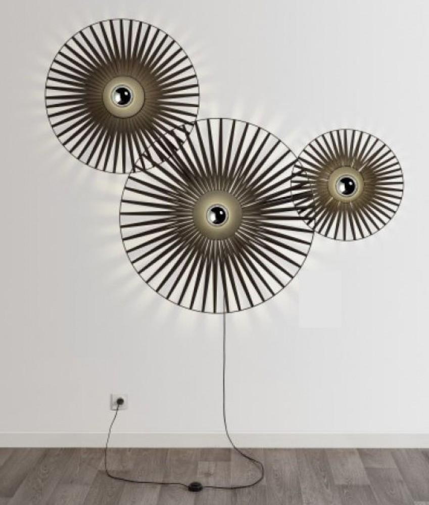 Applique Louise harpo - Noir - 3 lumières
