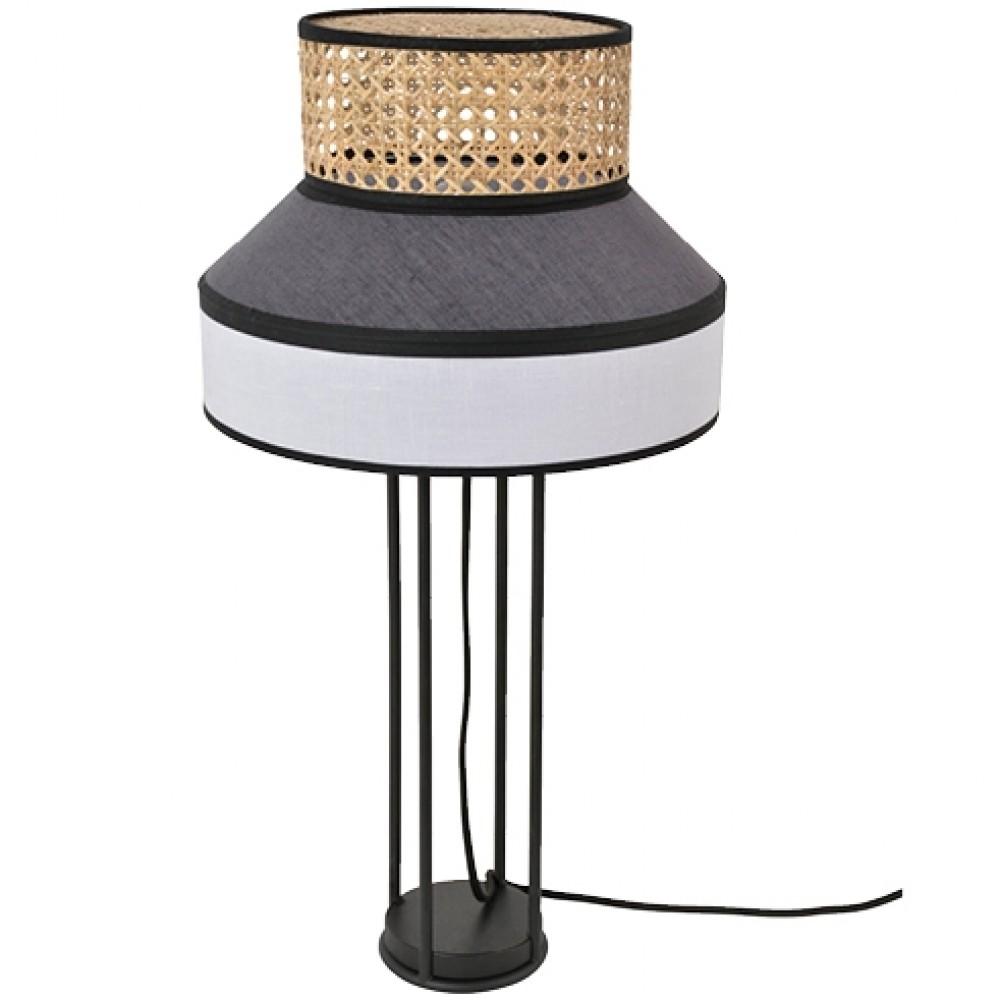 Lampe à poser Singapour - blanc anthracite - H.59 cm