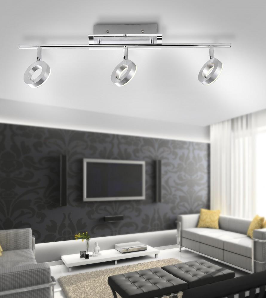Plafonnier LED Sileda IP44 3x6W Découvrez Luminaires d
