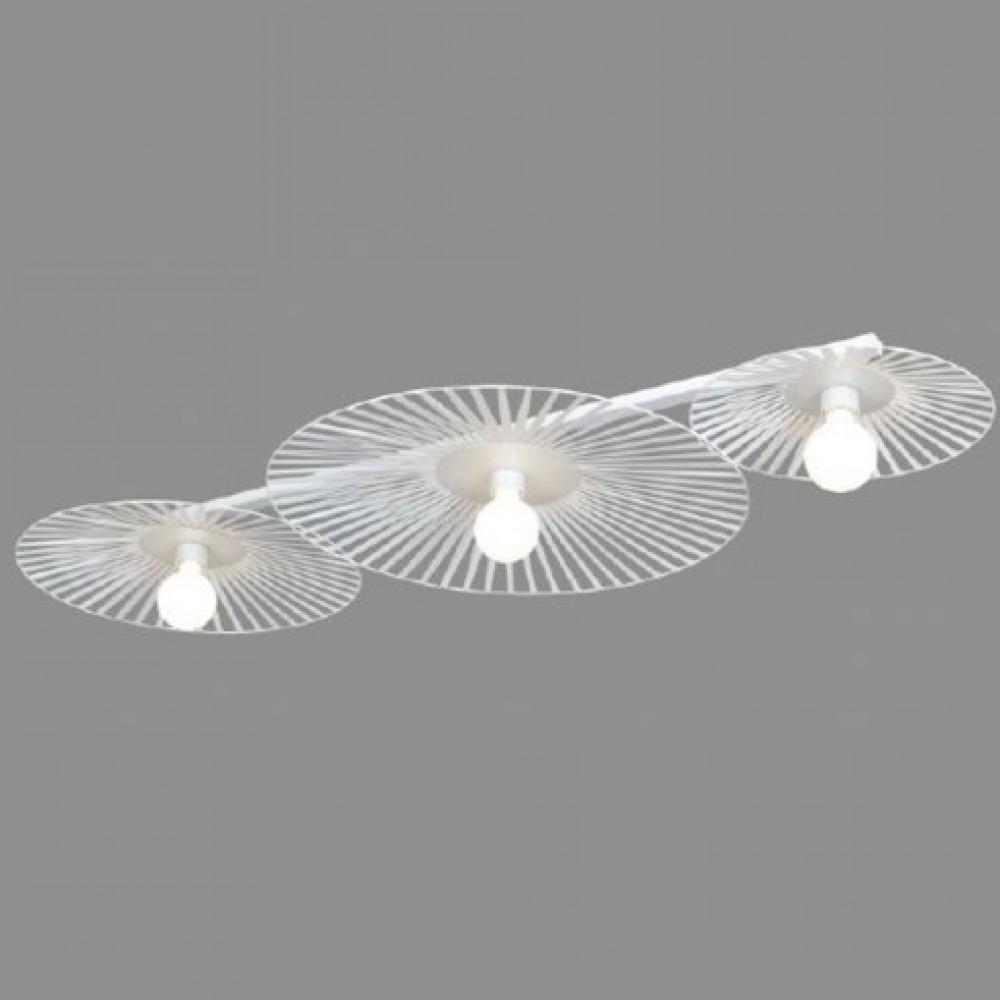 Plafonnier Léo - blanc - 3 lumières