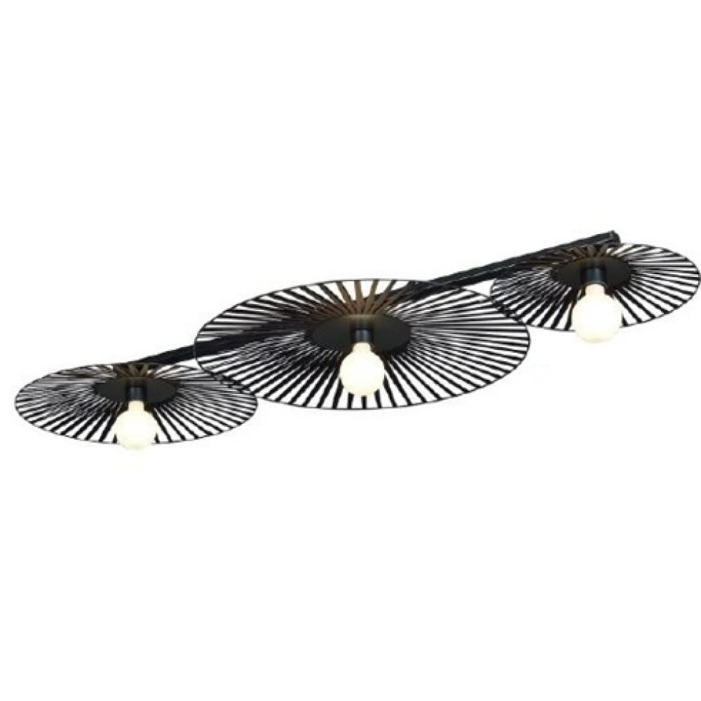 Plafonnier Léo - Noir - 3 lumières