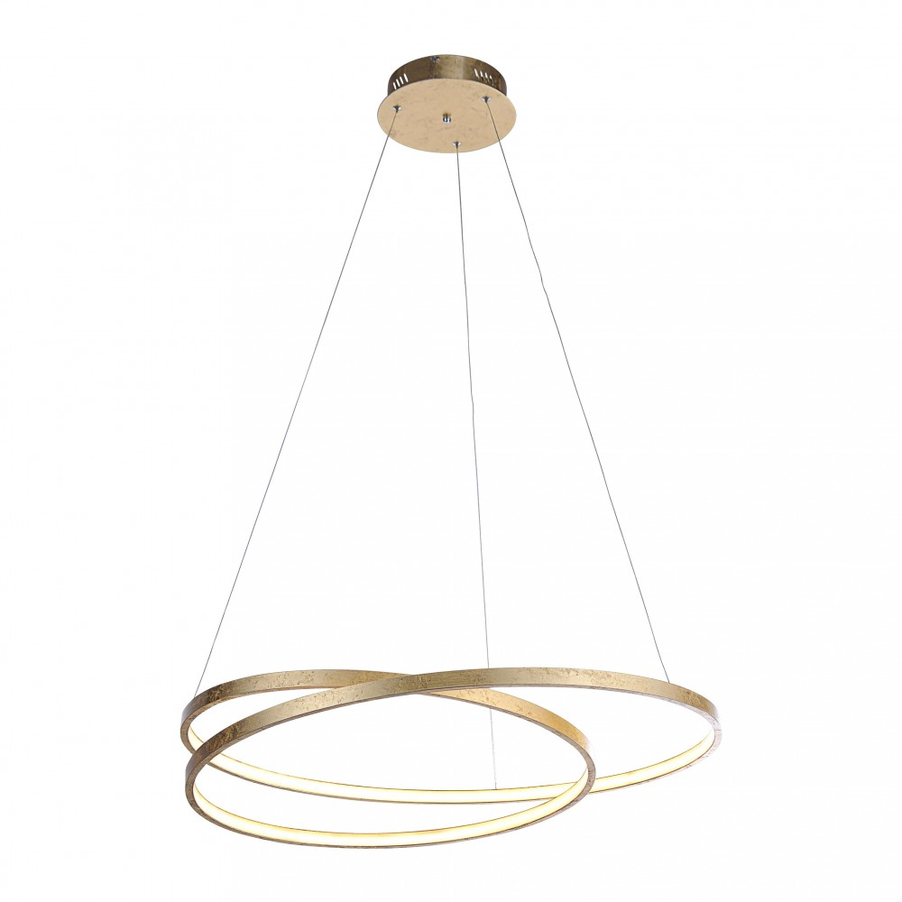 Suspension LED Roma 40W feuille d'or