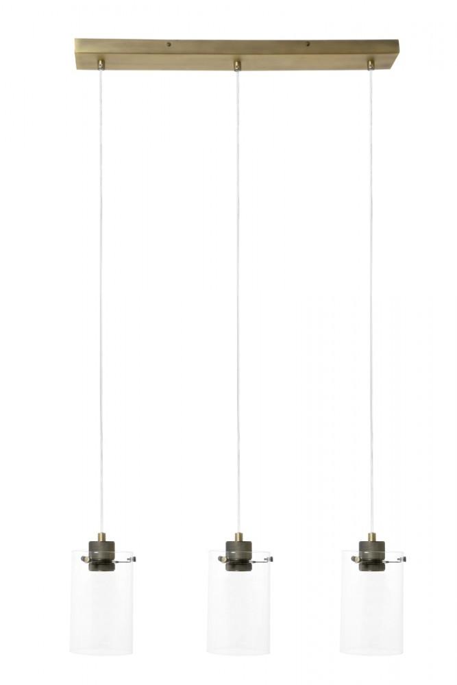 Suspension Vancouver 3x60W bronze