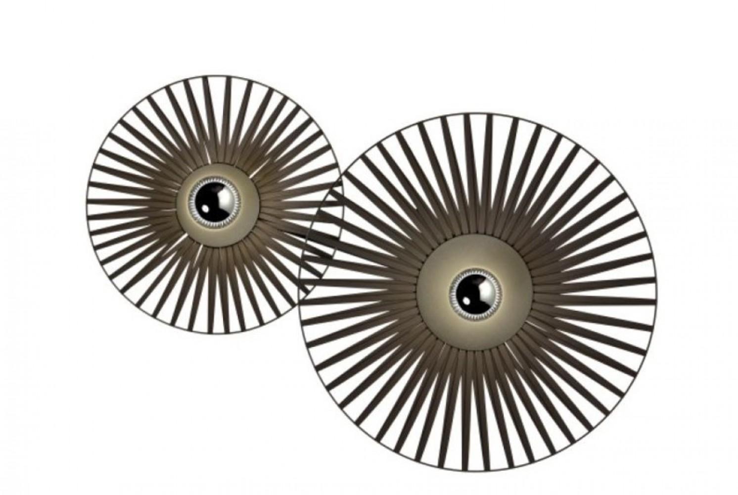 Applique Thelma Harpo - Noir - 2 lumières