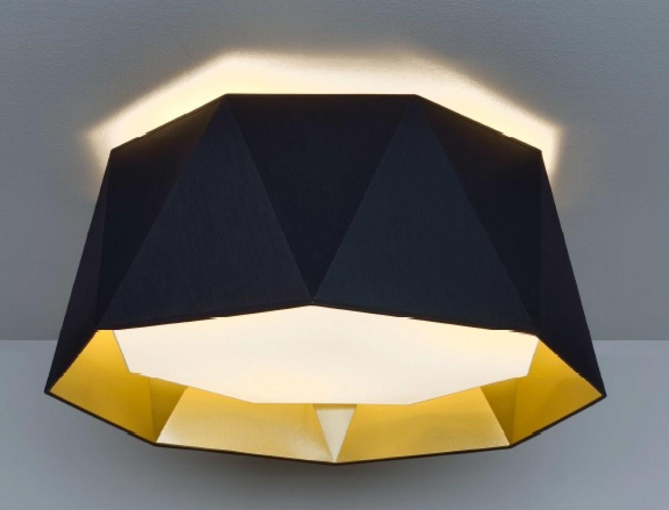 Luminaire noir et or