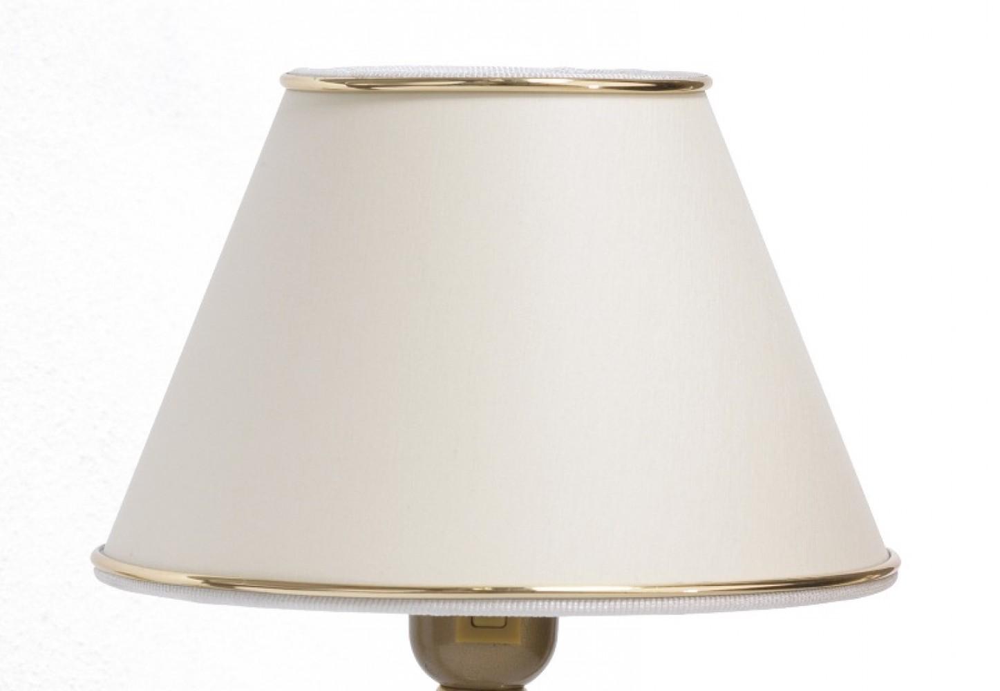 Abat-jour blanc et liseré doré Ø20cm