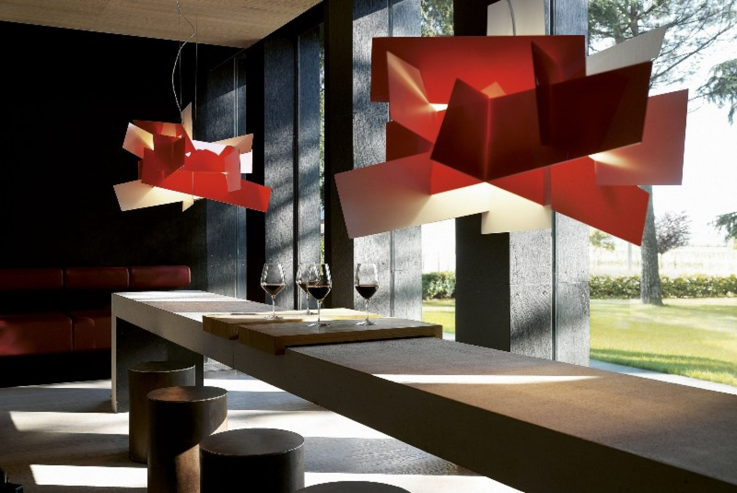 Big Bang Rouge suspension - Foscarini