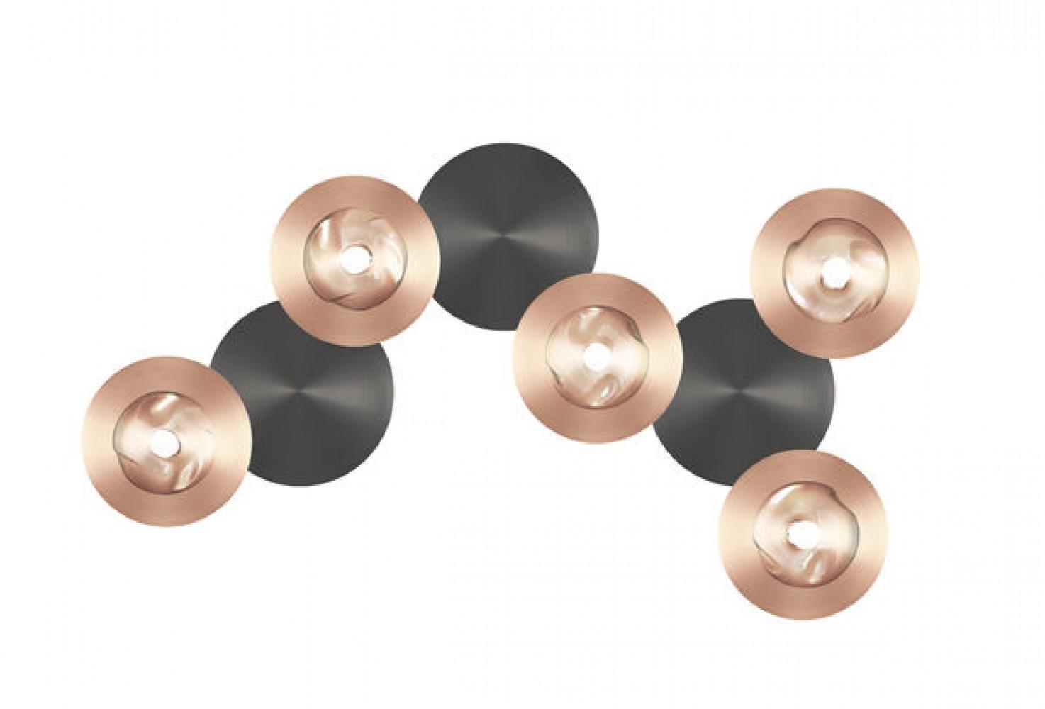 Applique / Plafonnier Dots B cuivre - graphite 5L