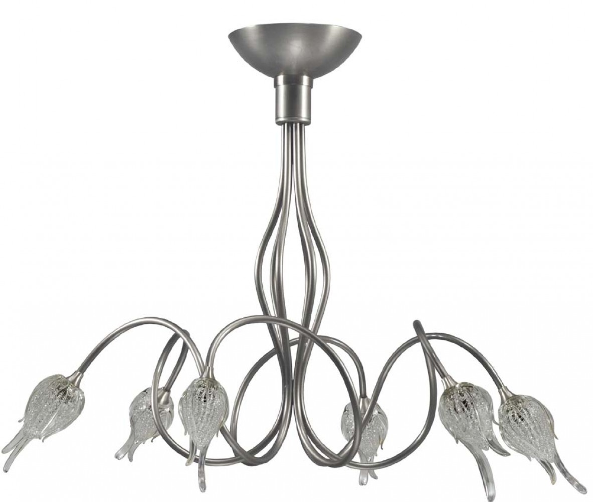 Lustre Pise 6x40W nickel