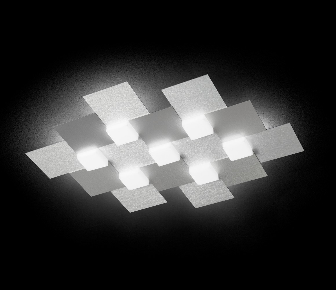 Applique/Plafonnier CREO 7 x LED - Aluminium