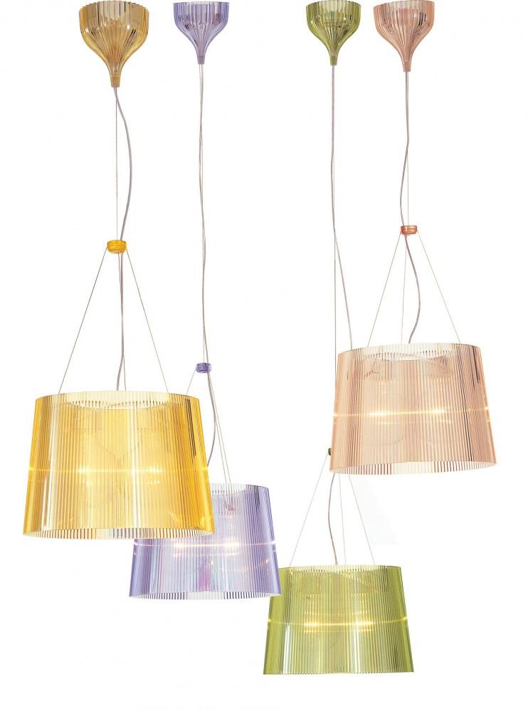 g suspension jaune kartell d couvrez kartell jeancel luminaires. Black Bedroom Furniture Sets. Home Design Ideas