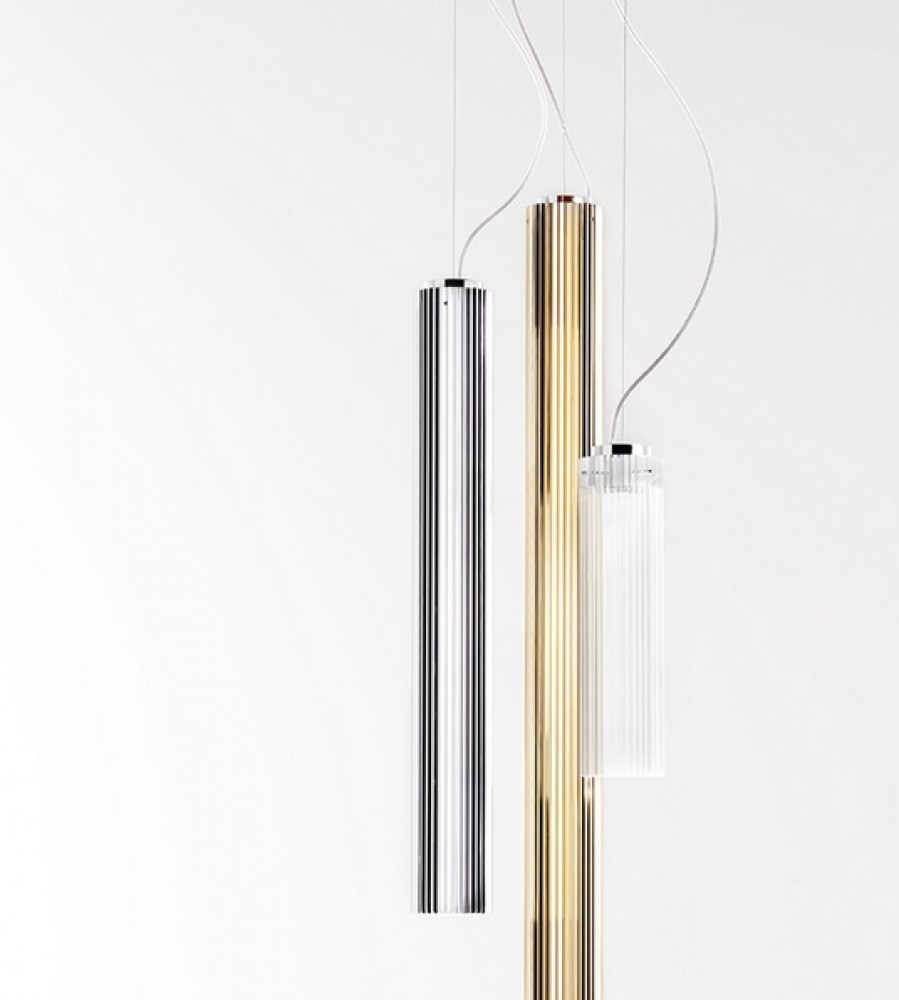 Rifly suspension led chrome kartell d couvrez for Miroir kartell soldes