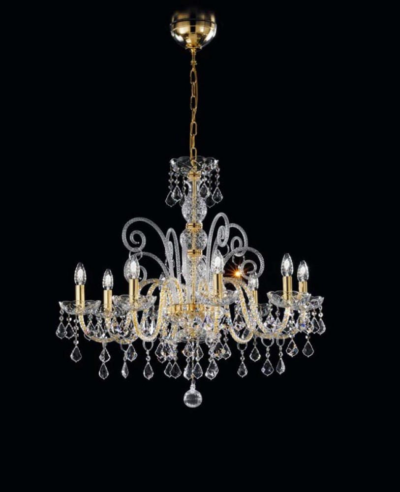 lustre cristal de murano ambre d couvrez luminaires d. Black Bedroom Furniture Sets. Home Design Ideas