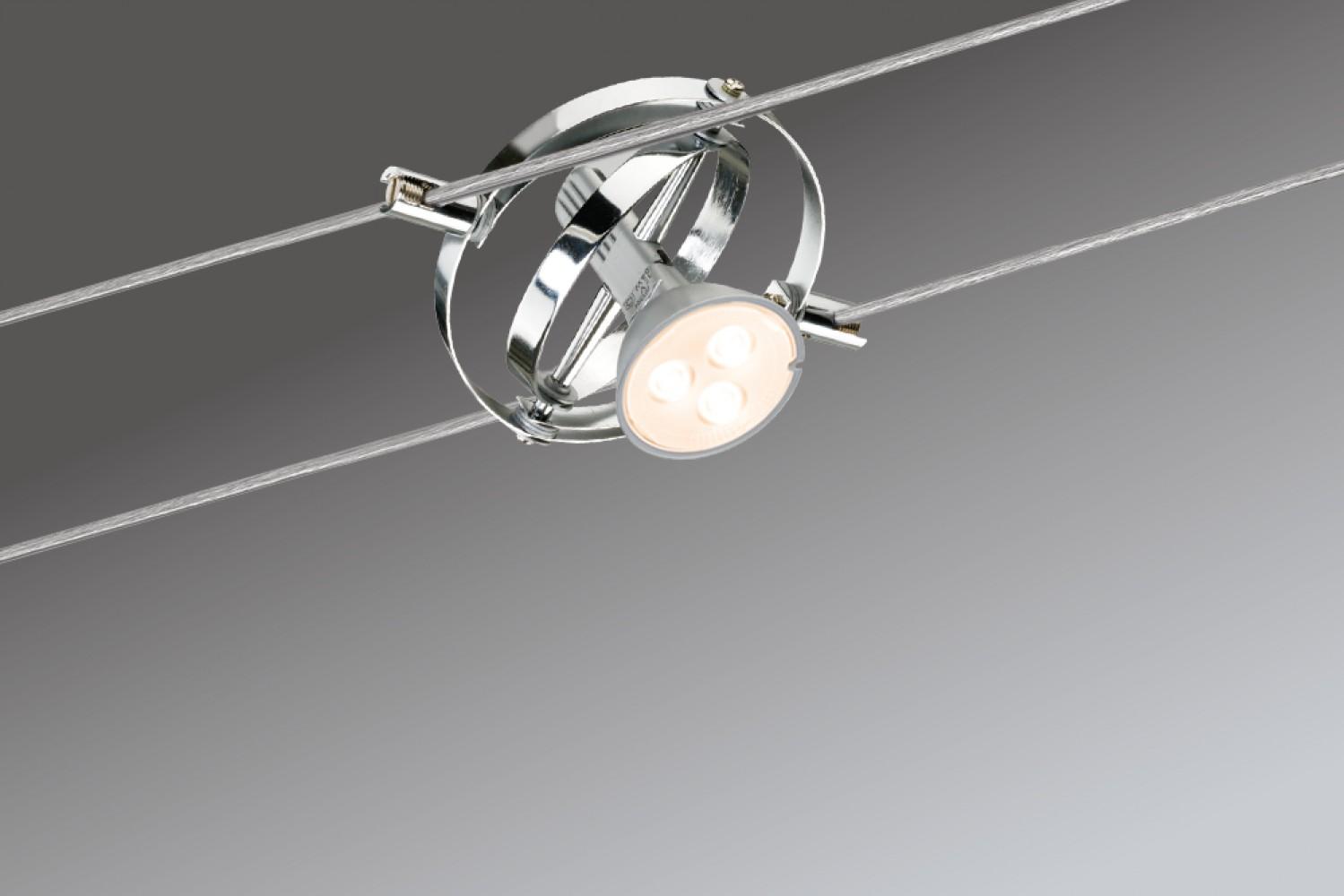 Kit spots sur câble Cardan LED 4L