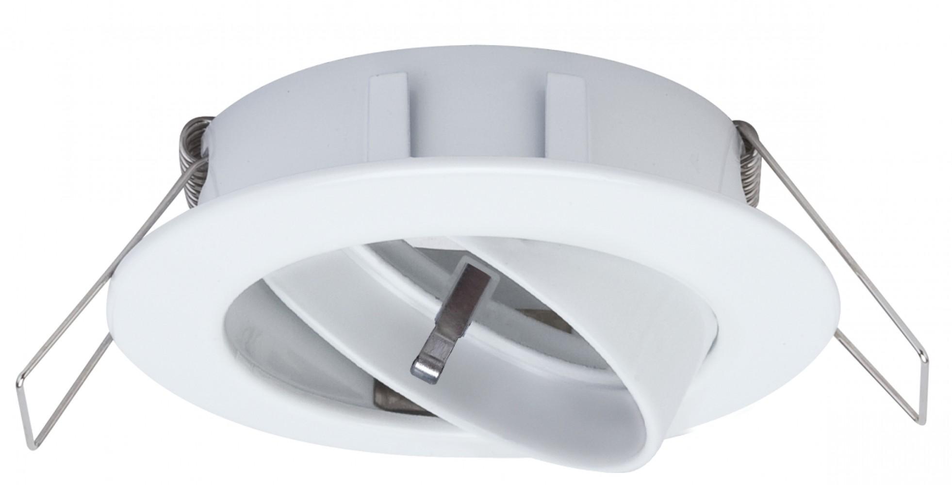 Spot encastré orientable blanc 230V