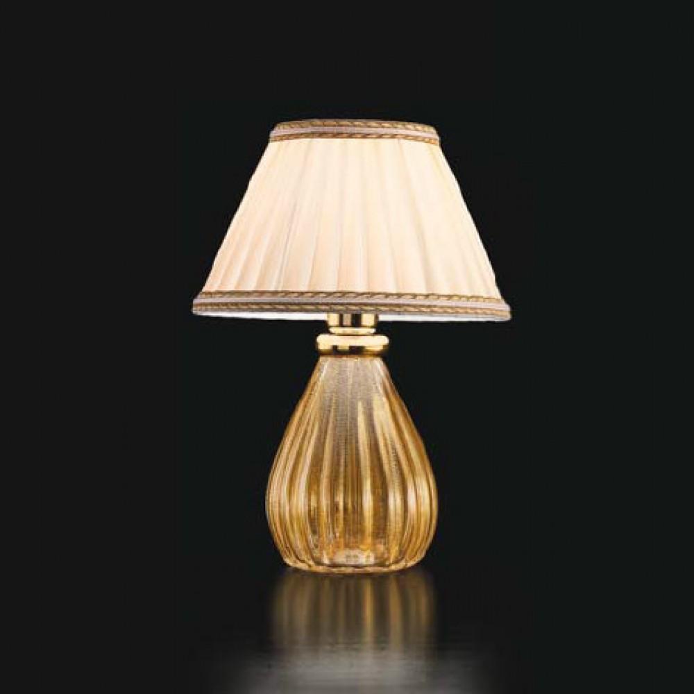 Lampe poser verre de murano classique crystal et or for Grandes lampes de salon