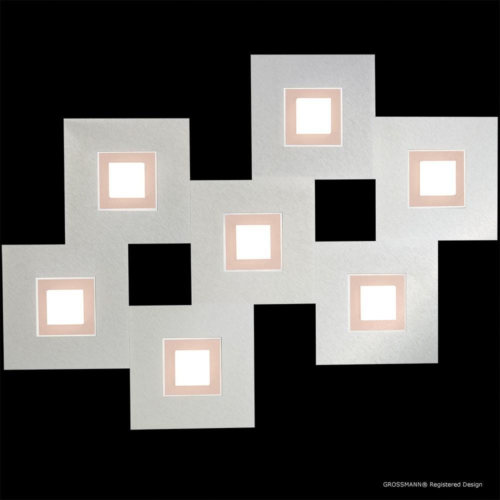 Applique / Plafonnier Karree 7 x LED Nacré - Cuivre