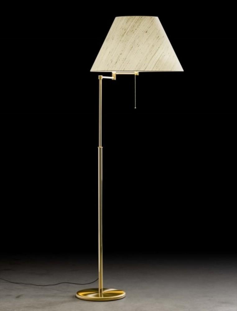 Lampadaire télescopique Charline - laiton mat - 3 lumières