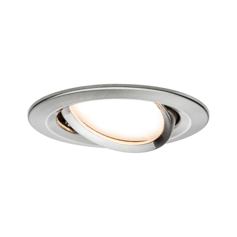 Kit spot encastré LED Coin Slim IP65 6,8 W acier