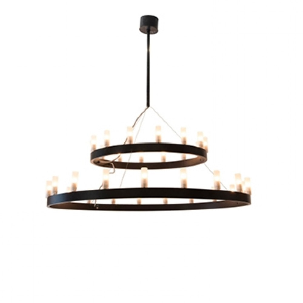 Suspension Chandelier double D.90 - Fontana Arte - Noir