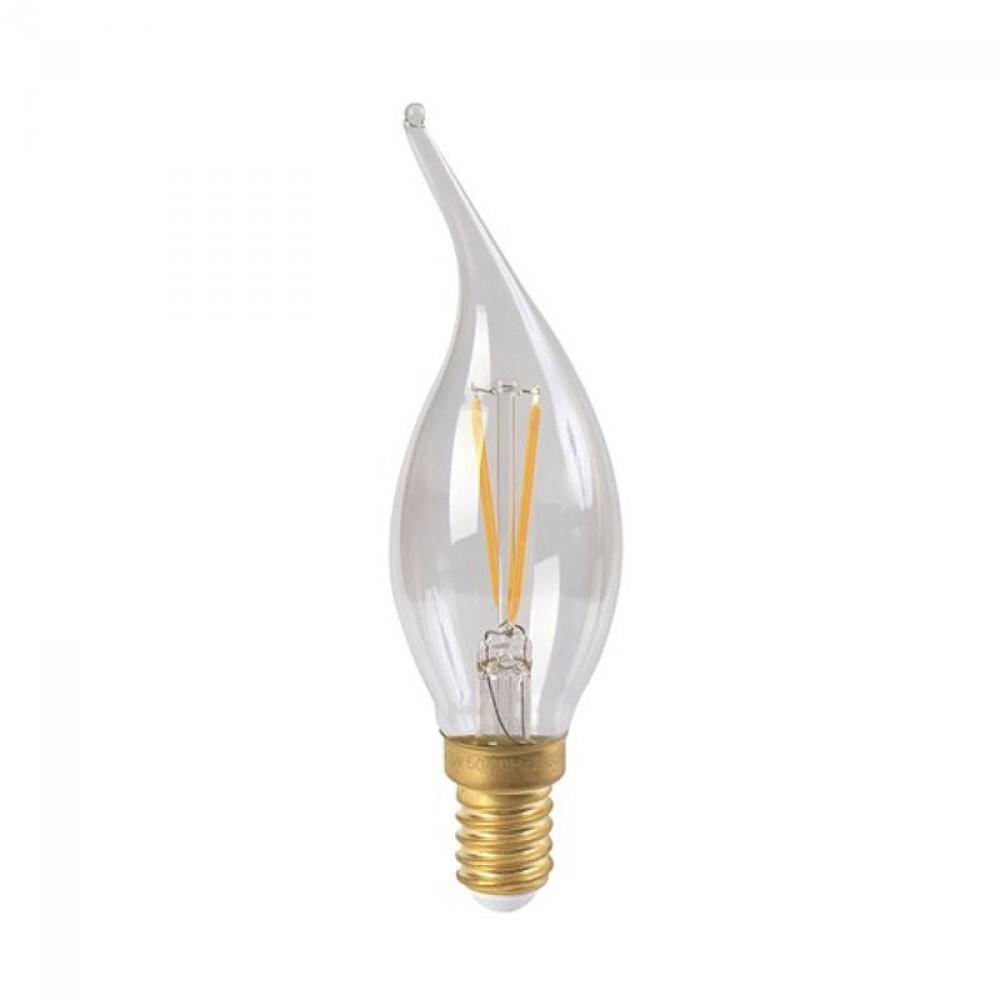 Ampoule flamme LED 4W coup de vent claire