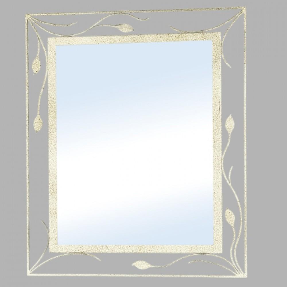 Miroir fer forg ivoire 91x76 d couvrez mobiliers for Miroir fer forge