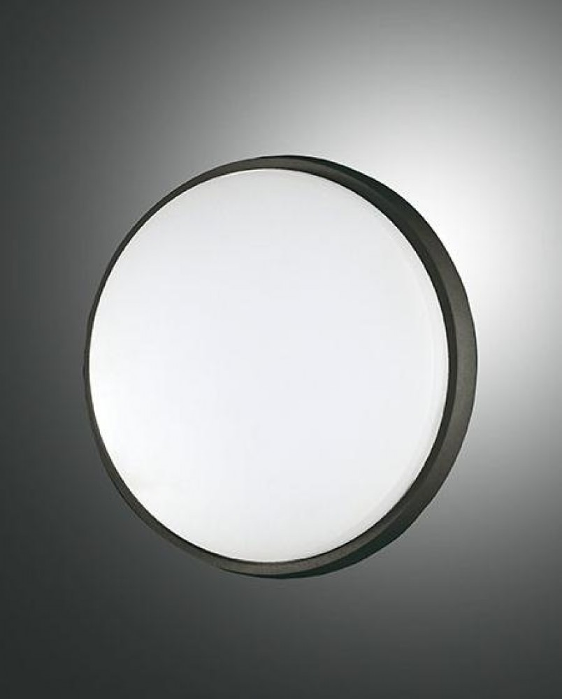 Applique/Plafonnier d'extérieur Led Fabas Luce Olly D.24 - Noir