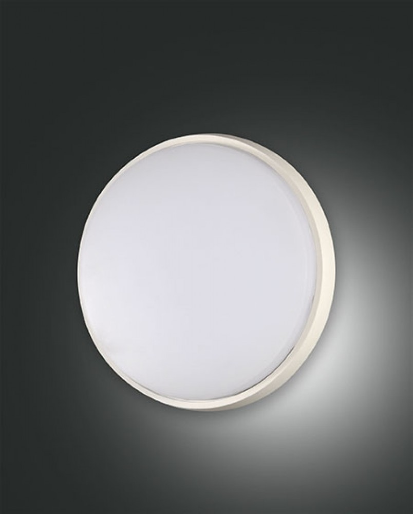Applique/Plafonnier d'extérieur Led Fabas Luce Olly D.24 - Blanc