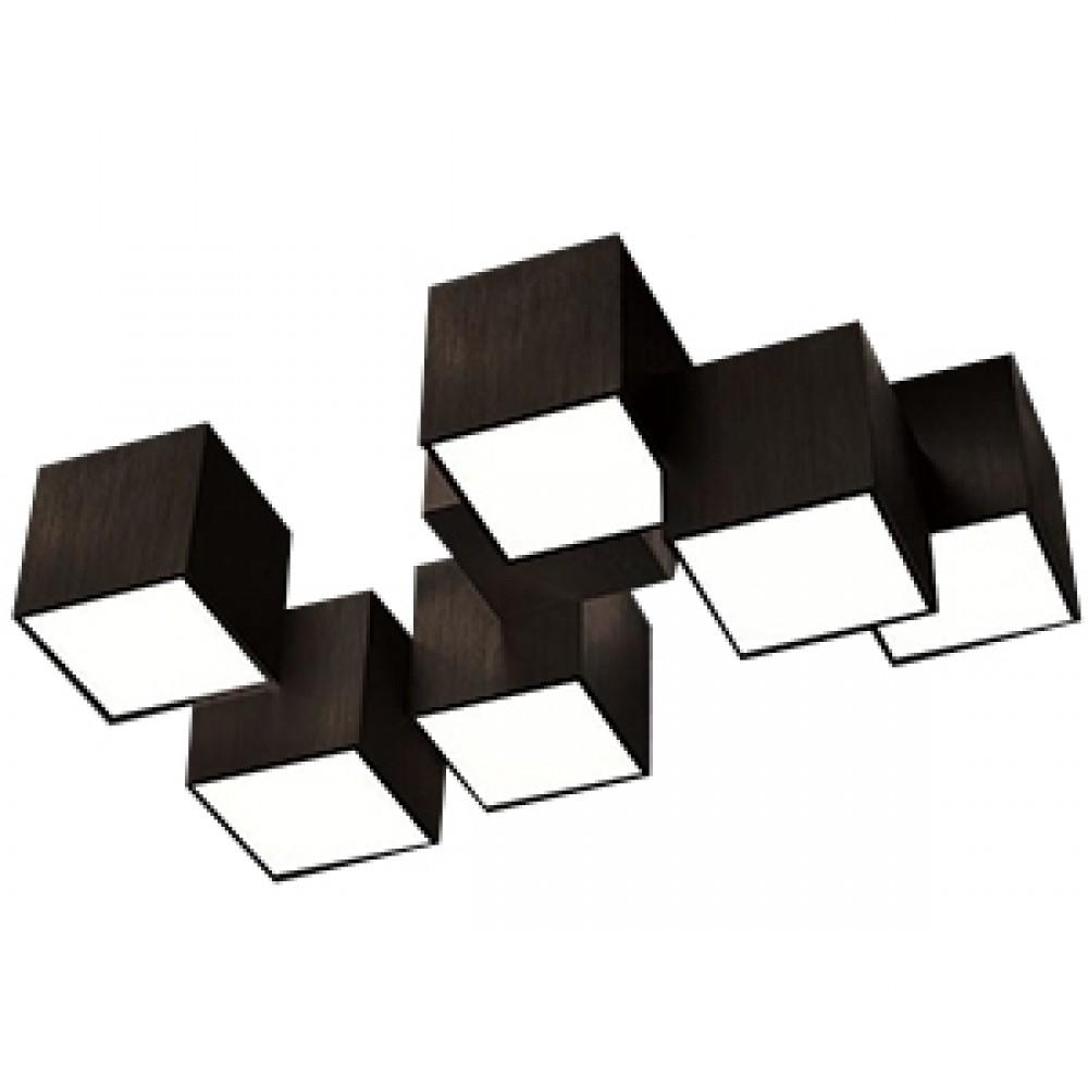 Plafonnier Led Rocks 6x680lm Noir