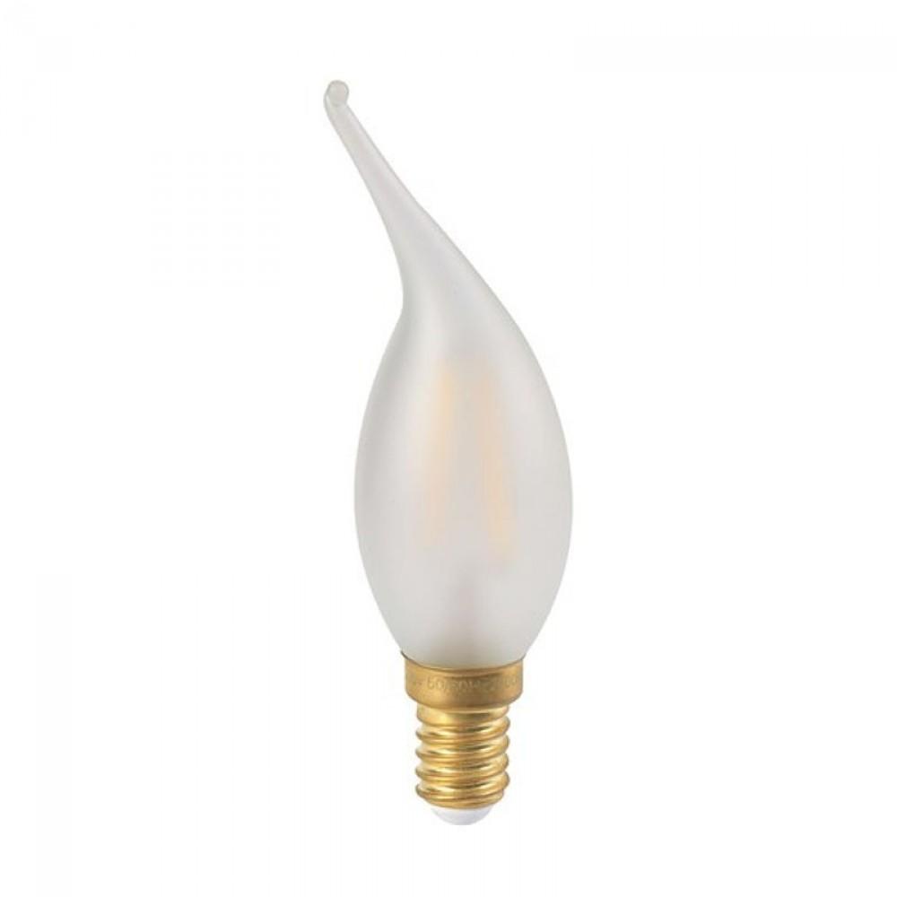 Ampoule flamme LED 4W coup de vent satinée