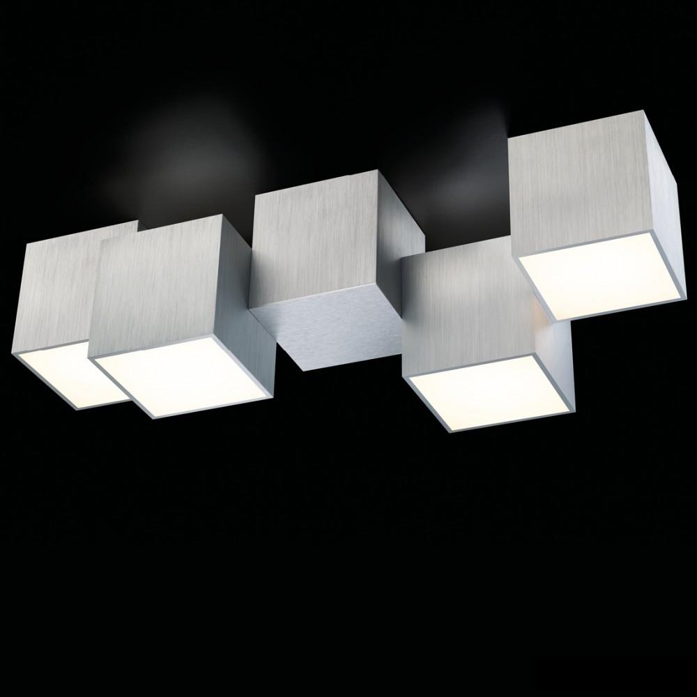 Plafonnier LED Rocks 4x680lm Aluminium brossé