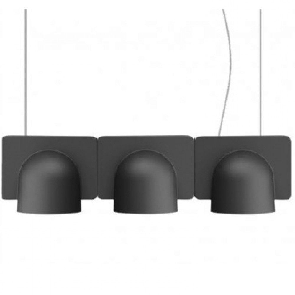 Suspension Igloo 3 Down - Fontana Arte - Gris foncé