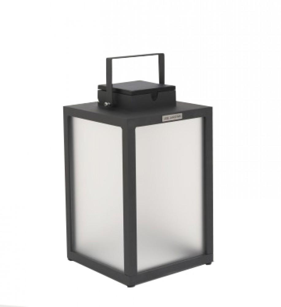 Lanterne d'extérieur Tradition 300 lm - Solaire et rechargeable - H.40 Aluminium