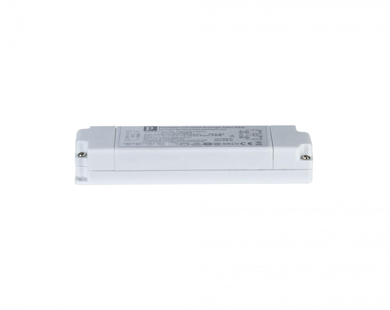 Transformateur électronique VDE Flat 70W - Blanc