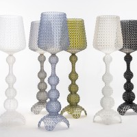 Kabuki lampadaire blanc - Kartell